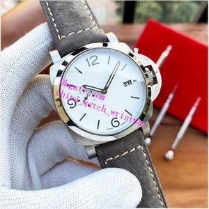 Fábrica 2021 Luxo Relógio Classic Series Lumin0r 44mm 1314 P AM01314 Strap de couro Movimento automático Moda relógios dos homens relógios de pulso