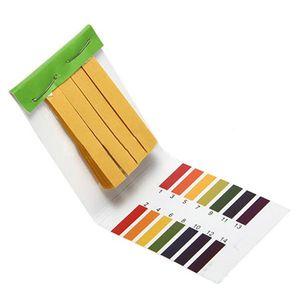 Commercio all'ingrosso-2016 Nuove 80 strisce 80 Strips Full Range PH Acido alcalino 1-14 Testata Acqua Acqua TestMUS Test Kit One 656 S2