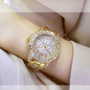 Mode Diamant Uhr für Frauen Kleid Gold Eleganter Quarz Wirt Damen Armband Armbanduhren