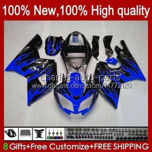Kit per il corpo per Triumph Daytona600 Blue Flames Daytona 650 600 cc 02 03 04 05 Bodywork 104HC.32 Cowling Daytona650 02-05 Daytona 600 2002 2003 2004 2005 ABS Full Fairing