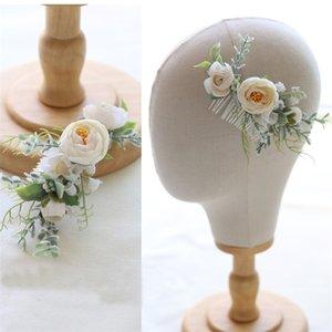 Jonnafe New Woodland Flower Capel Capel Capelli Bridal Hearwear Handmade Wedding Jewelry Accessori per capelli Pettini Donne Paesaggio Y19061703