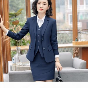 New Styles Slim Pant Suits With 2 Piece Jackets + pant Female Blazers & Waistcoat Sets For Women Business Work Wear
