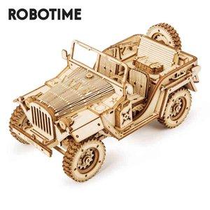 Robotime 1:18 369 Ретро DIY подвижная 3D армия Jeep деревянные головоломки головоломки детская молодежная игрушка для взрослых игрушка MC701