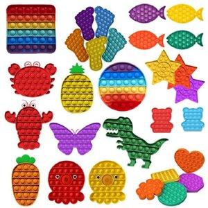 Pop It Fidget Giocattoli Push Sensory Push Bubble Board Game Toy Ansia Stress Stress Reliever Bambini Adulti Autismo Obiettivi speciali Vendita E122202