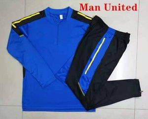 2021 2022 MANCHESter soccer jacket man tracksuit set 21 22 UNITED RONALDO SANCHO RASHFORD POGBA SHAW B. FERNANDES LINGARD UTD football training suit jogging