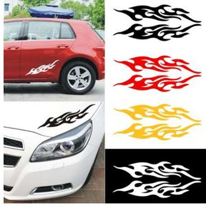 Universal Car Flames Stickers Styling Engine Hood Motorcycle Decal Decor Mural Vinyl Covers Auto Fire Sticker Car-styling