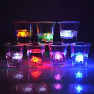 High Quality Multi-colors Flash Ice Cube Water-Actived Flash Led Light Flash Automatically for Party Wedding Bars Christmas
