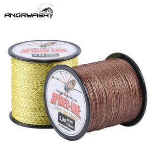 Angryfish 8 Strands 300M 500M PE Braided Fishing Line Camouflag Multifilament 10-80LB for Freshwater Seawater 210609