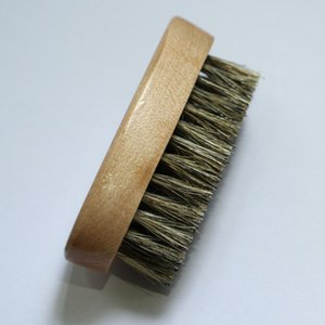 10pcs Wood Bristles Beard Brush shaving aftershave Mustache Wooden Men brushes Comb 8x4x3cm