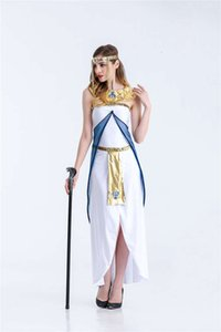 new style classical beautiful Ancient Egypt Queen Costume Classical Arab dress mysterious Halloween game uniform Party Cosplay tools Designer luxury