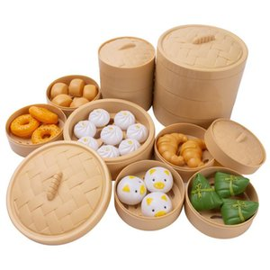 Simulation Breakfast Toy Steamer Steamed Stuffed Bun Snack Food Cognitive Toy Set Play House Kitchen Cooking Kid Toy