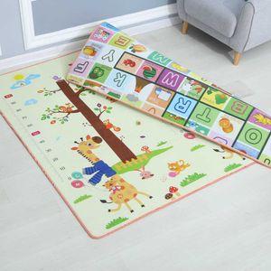 Foam Floor Tiles Protective Mat Baby Play 200*180*0.5cm Crawling Carpet Cartoon Developing for Children H0831 H0906