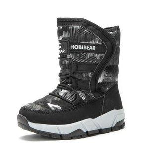 NUEVO INVIERNO NIÑOS BOTAS DE NIÑOS NIÑOS NIÑAS Moda Forme a impermeables Zapatos cálidos -30 Grados Niños grueso medio antideslizante
