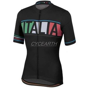 Italia 2021 Erkekler Yaz Giyim Tur Bisiklet Giyim Kiti Kısa Kollu Önlük Şort Erkekler Nefes Maillot Ciclismo Seti