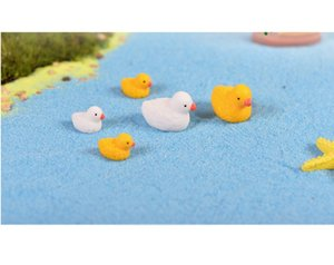 lovely mini toys cake toppers capsule toys small ducks microlandschaft