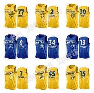 All-Star Jersey Basketbol Stephen Körili Luka Doncic LeBron 23 James Harden Kawhi Leonard Kyrie Irving Giannis Antetokounmpo Joel Embiid Erkekler