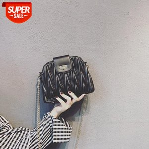 2021 new small fragrant style chain bag female western French fashion wave messenger shell #RQ33