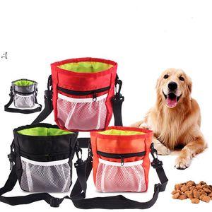 Multi-function Dog Pet Training Bag Portable Pets Outdoor Treat Sack Food Holder Adjustable Waist Belt Garbage Bags Folding KitBWF10457