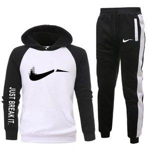 Homens Amarelos Casual Sportswear Tracksuits Gyms Sweatshirt + Sweatpants Moda Marca Masculino Dois Parte Sets Plus Size S-XXXL