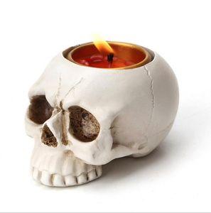 Северный держатель черепа свечи ретро эпоксидная смола черепа свечей подсвечники подсвечник украшения дома декор Halloween бар KTV украшения