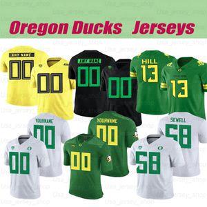 Custom Oregon Ducks College Football 10 Justin Herbert 7 CJ Verdell 5 Kayvon Thibodeaux Jersey