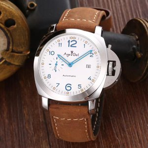 Classic Men Automatic Mechanical Sapphire Stainless Steel Watches Silver White Dial Leather Luminous Classica Watch Wristwatches