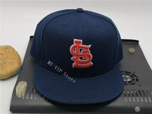 En Yeni STL Donanma Mavi Monited Şapka Adam Serin Beyzbol Kapaklar Yetişkin Düz Tepe Hip Hop Mektubu LS Monited Kap Erkekler Kadınlar Tam Kapalı Gorra