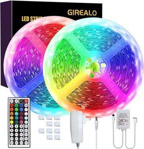 GIREALO 150 Led Party Strip Lights Led Color Changing Strip Lights 32.8ft with 44 Keys Remote Control Safest UL Power Adapter for Bedroom Bar Decor