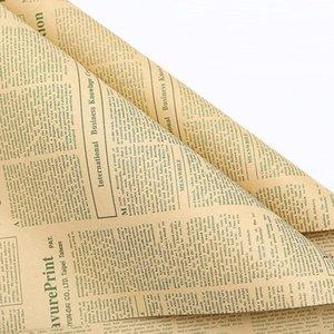 Газета Florist Wrap Flower Букет Подарочная упаковка Упаковочная бумага для День Рождения Валентина День матери Рождественское День благодарения DHA4341