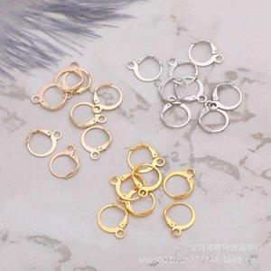 Metal Earrings clip ear hook 200 round stainless steel French Hook DIY accessories per package
