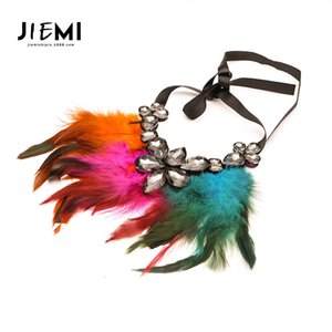 pendants pendants Low price Guangzhou Women's large diamond Feather clavicle chain exaggerated Necklace women