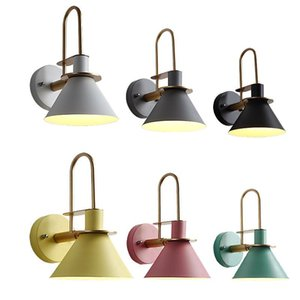 Industrial Led Wall Lamps Nordic Iron Horn Lights Modern Vanity Light Bedroom Bedside Living Room Stairs Reading Study E27