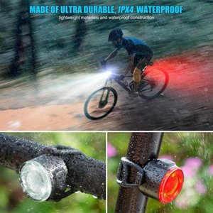 Usb Rechargeable Xpe Bike Front Rear Lights Led Bicycle Riding Lamp Waterproof Velo Accessories Night Cycling Warning