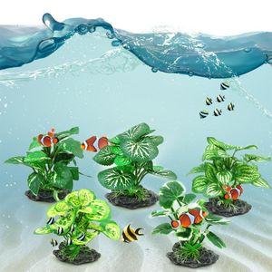 Water Plants Landscape Aquarium Decoration Home Fish Tank Simulation Green Fake Living Room Ornaments Moss Stabilized Decorative Flowers & W