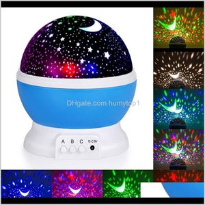 Wholesale Kids Night Light Novelty Luminous Toys Romantic Starry Sky Led Rotating Master Magic Children Bedroom Lamp Unique 6Mh0X Lamp E67Ld