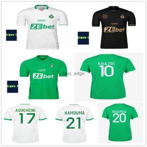 22 22 Maillots As Ethienne Soccer Trackss Khazri Ahichiche Beric Nordin Hamouma Boudebouz AHOLOU CUSTOM 2021 2022 ASSE Ethienne Футбольные рубашки