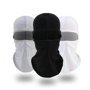 Cycling Caps & Masks Motorcycle Face Mask Balaclava Full Cover Hat Lycra Ski Neck Summer Sun Ultra UV Protection Thin