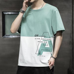 Men's T-Shirts 2021 Summer Men Casual Loose Cotton Half-sleeved Tees Clothes And Bottom Tops Print Letter Wear Harajuku Clothing