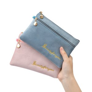 Wholesale Mobile Phone Flannel Storage bags Portable Bag Women's Key Card Pocket Mini Coin Purse Travel