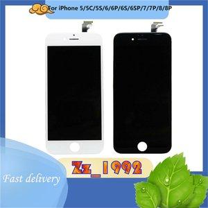 لوحات الهاتف الخليوي الأصلي كابل LCD ل iPhone 5/6 / 6P / 6S / 6SP / 7/7P / 8/8P شاشة تعمل باللمس استبدال شاشة عرض محول الأرقام