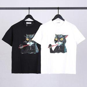 2021 Sommermode Marke Graffiti Günstige Katze Kurzarm T-Shirt Männer und Frauen Paare Studenten Reine Baumwolle Lose T-Shirt T-Shirt