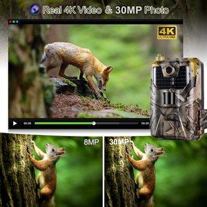 4K Video Live Broadca Trail Camera 30MP Wifi Aplicación Bluetooth Control de Bluetooth CAMERAS WIFI900PRONIGHT VISION VISIÓN DE VIDAÑA DE VIDAÑA