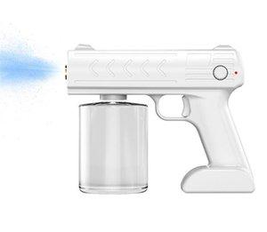 NEW Disinfection Sterilizer Blue Ray Nano Spray Gun Chargeable Sprayer Mist Air Purifies Foggy Machine Liquid Soap Dispenser 500ml