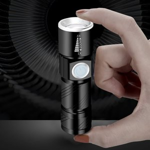Telescopic zoomable flashlight torches LED XPE Q5 usb charger flashlights with 18650 battery 3 model waterproof mini aluminium lamp 634 X2