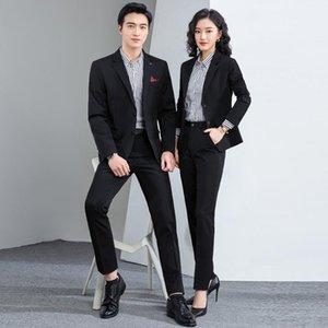 남성용 정장 블레이저 서양식 장식 바디 패션 레저와 여성의 동일한 정장 조끼 세 조각 세트 높은 탄성 비 철