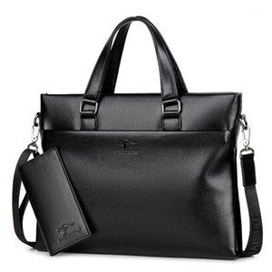 2020 Mens Bag New Casual Briefcase Large Capacity Crossbody Bag Handbag men's black business Leather office bags for men1