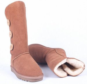 New Design 2021 Australia Snow Boots High Quality Genuine Leather Women Boot Classic Plush Warm Winter Botas