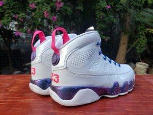 Скидка Обувь 2020 9 Классические Образцы Баскетбольные Мужчины Белый Розовый Многоцветный 9s Кроссовки