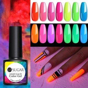 UR SUGAR Fluorescent Nail Gel Glow In Dark Neon Effect Soak Off UV LED Gel Luminous Gel Polish