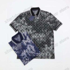21SS Hommes Imprimé T-shirts Polos Designer Tricot Jacquard Camouflage Paris Vêtements Courts Manchons Hommes Chemise Tag Blanc Black 05